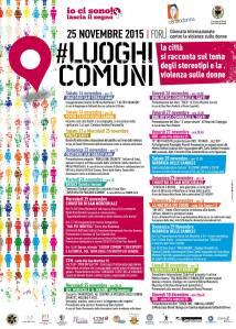 2015 11 25 Luoghi Comuni Forlì Violenza di Genere